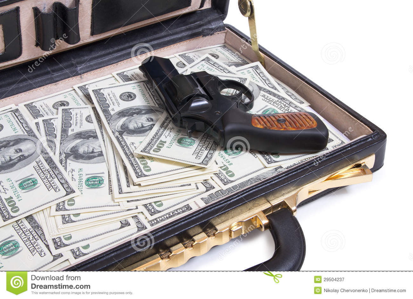 Geval met geld en kanon