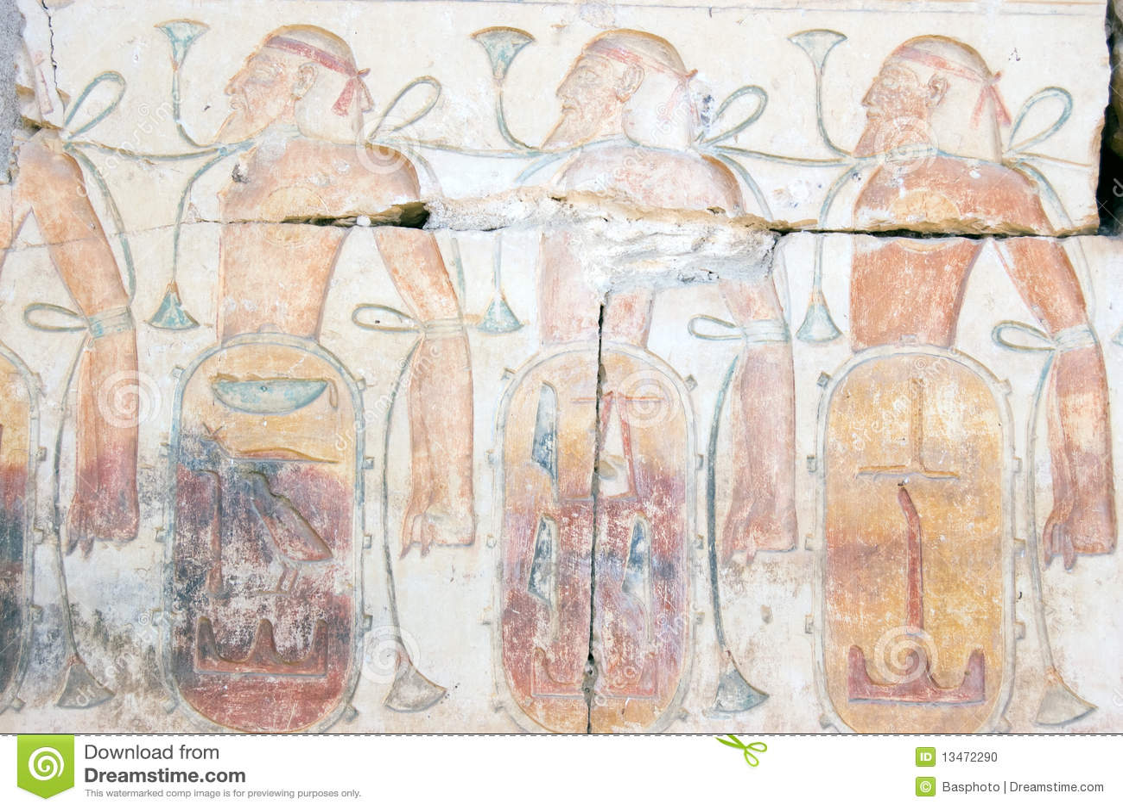 Gevangen Hiëroglyfische gravure Asyrians