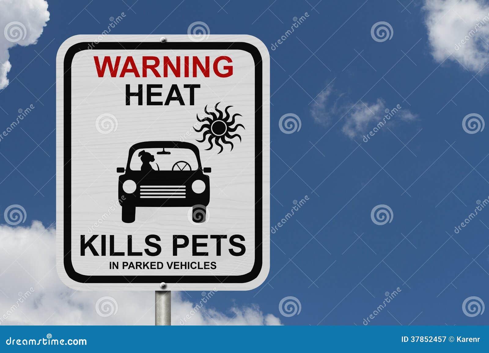 Gevaren om een hond in geparkeerde auto s te verlaten