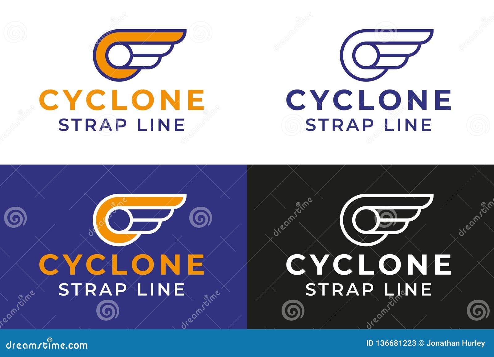 Gevleugeld Wiel Logo Template