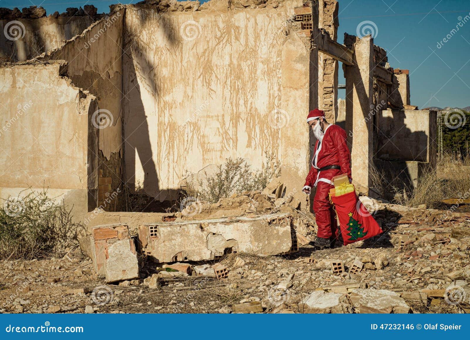 Gevoede omhoog Kerstman
