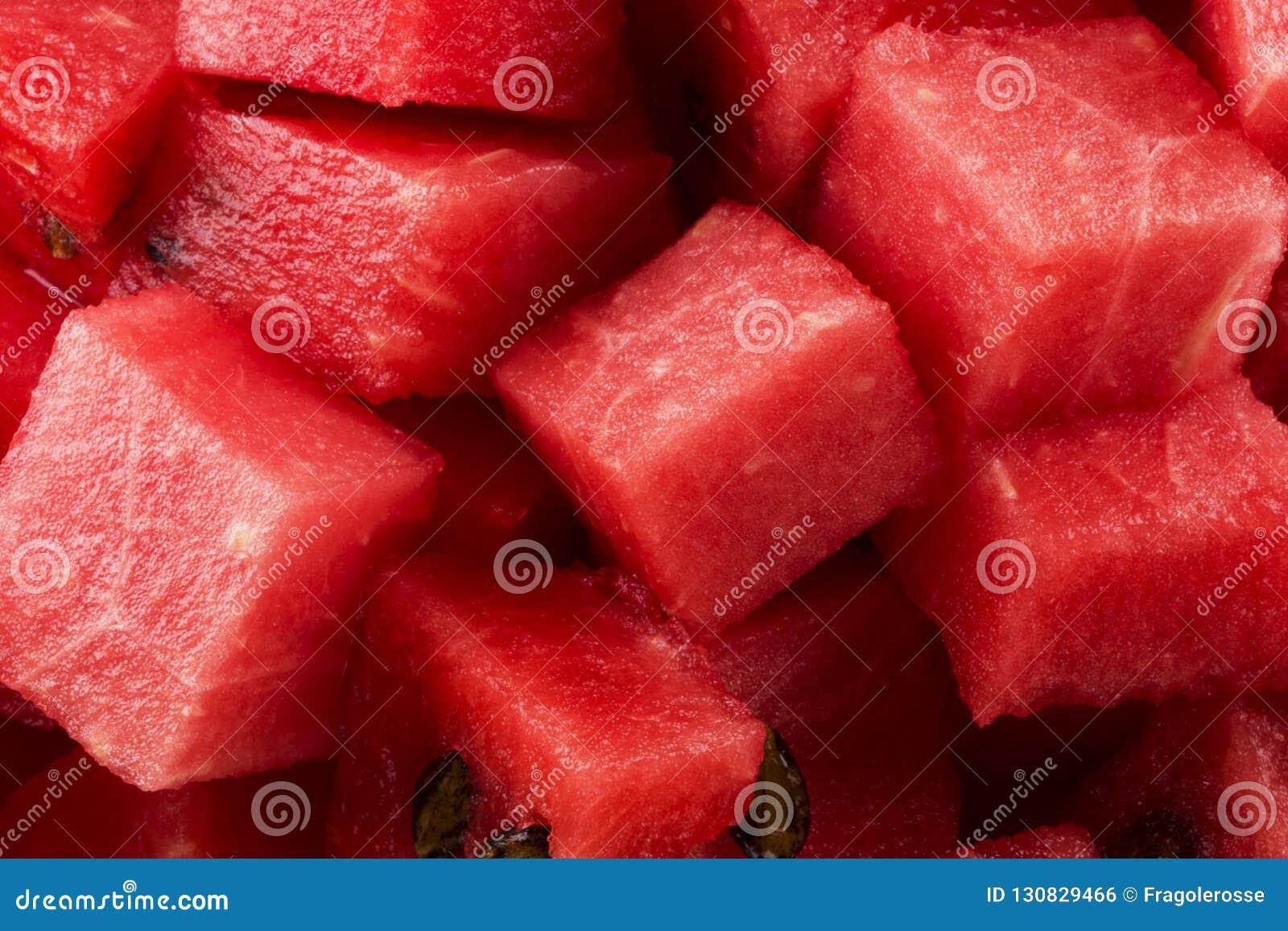 Gewürfelte Wassermelone