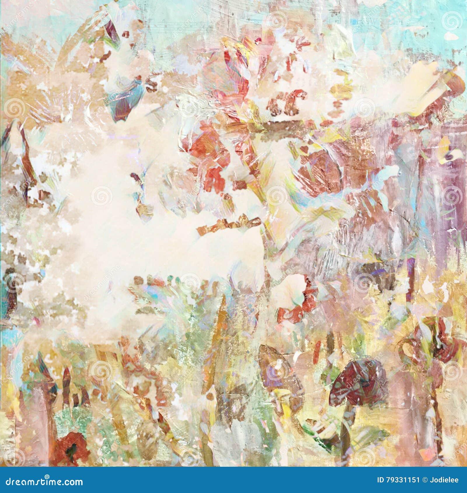 Gewaagde grungy verontruste artistieke geschilderde collageachtergrond