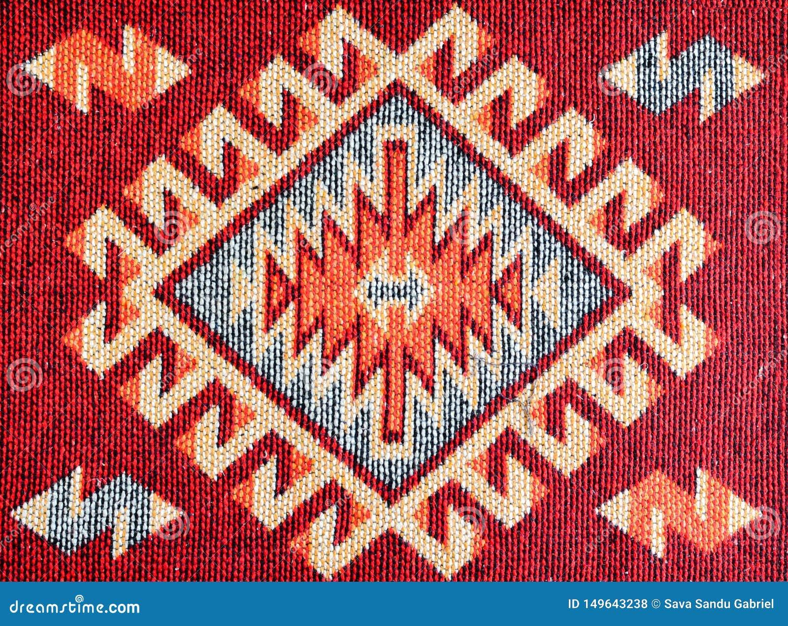 Gewebe des roten Teppichs mit Modellen