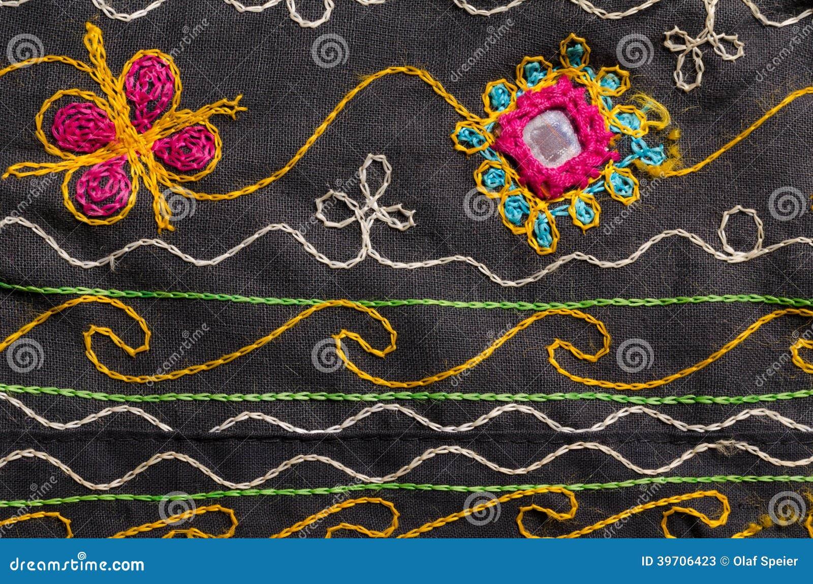 gewebe mit blumenmotivhintergrund stockfoto bild 39706423. Black Bedroom Furniture Sets. Home Design Ideas