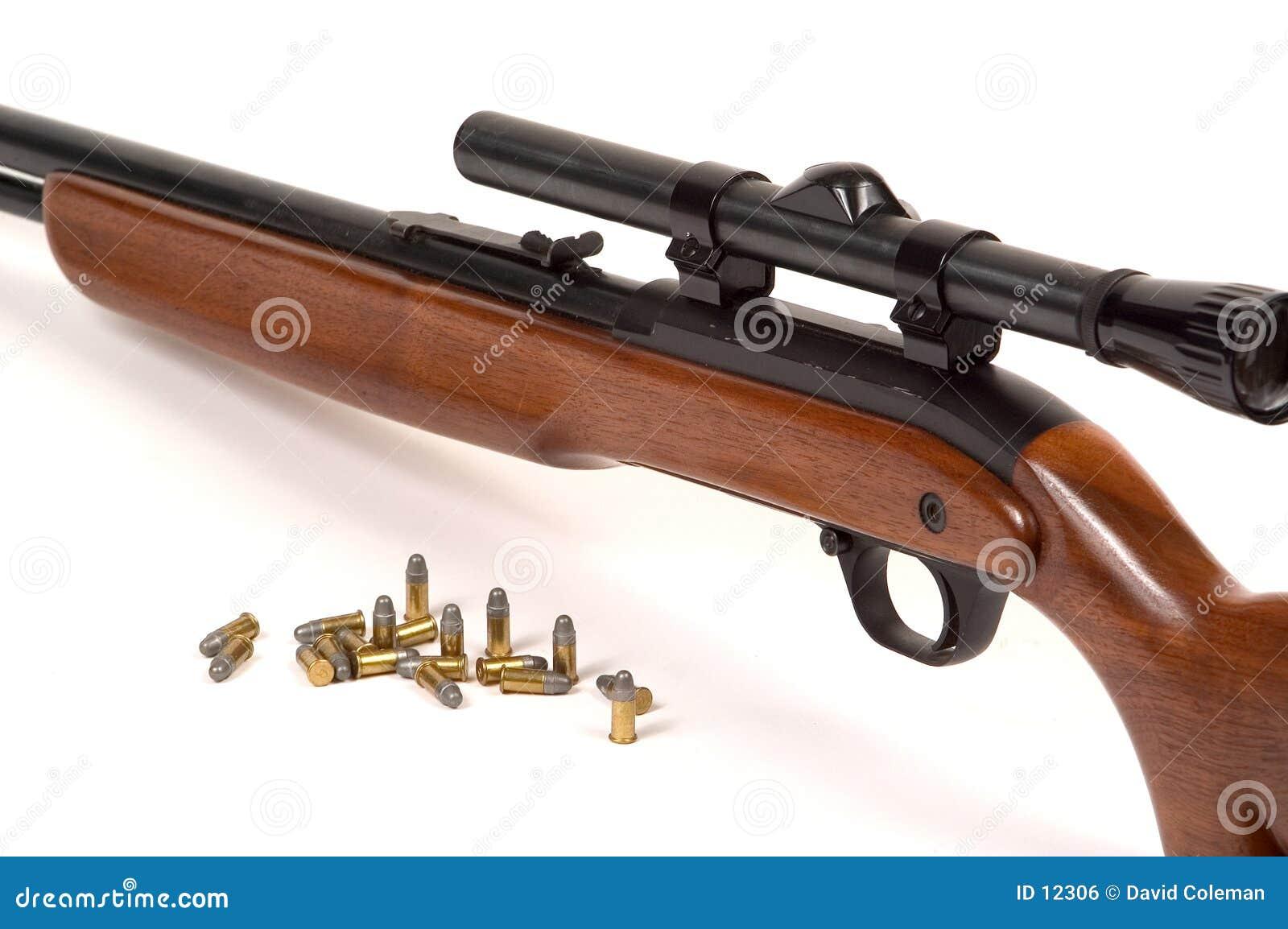 Gewehr mit Munition