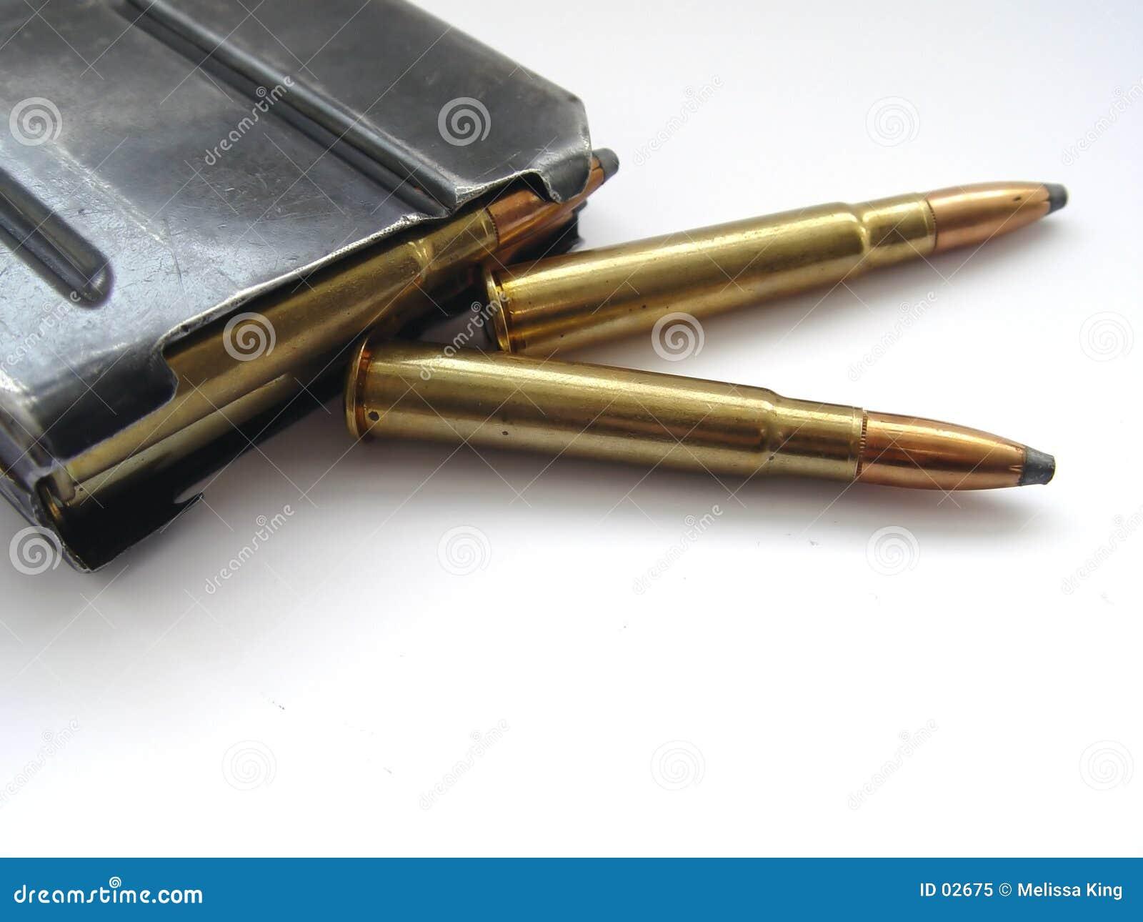 Gewehrkugeln mit Fall