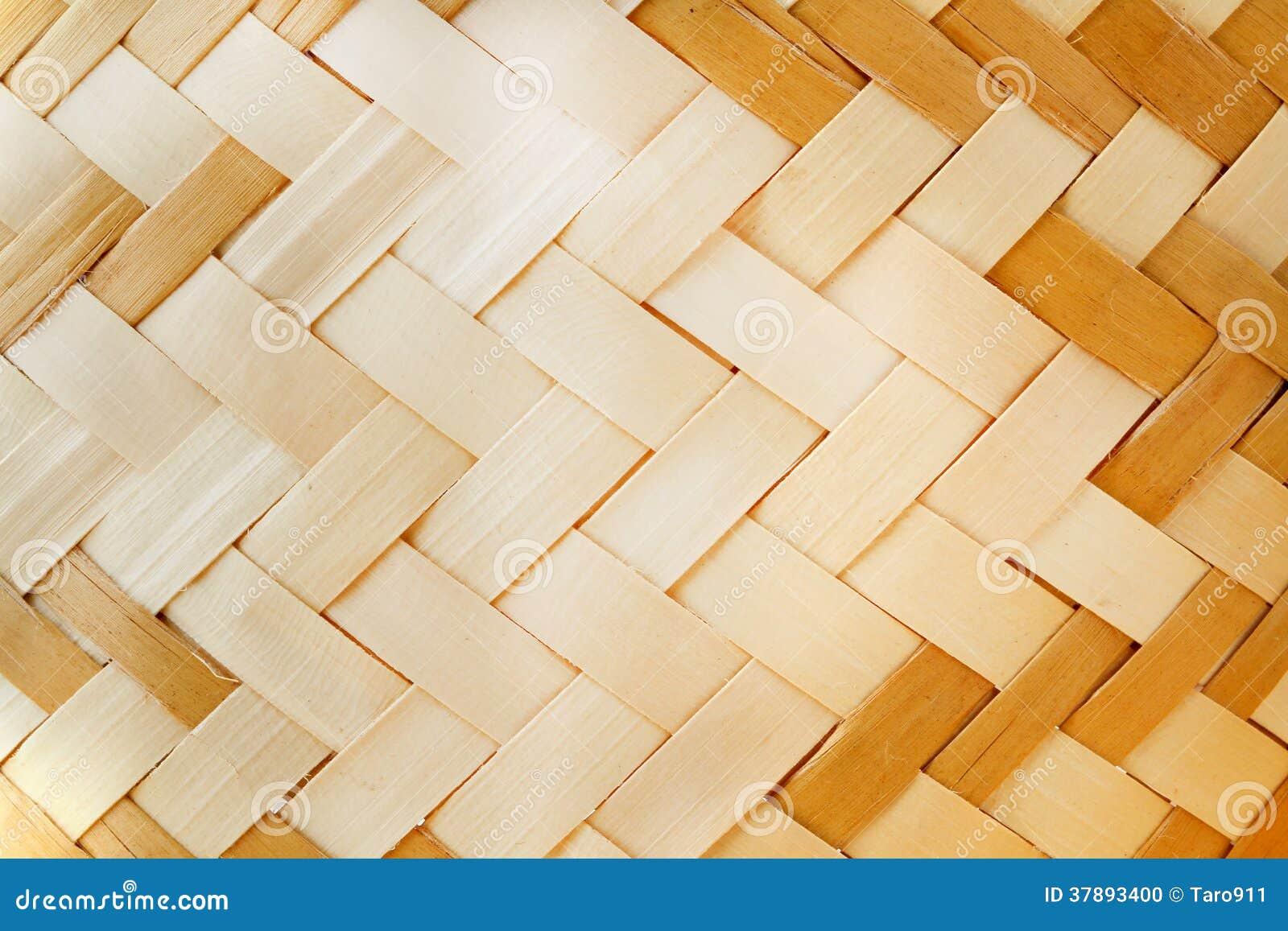 Geweven houten patroon