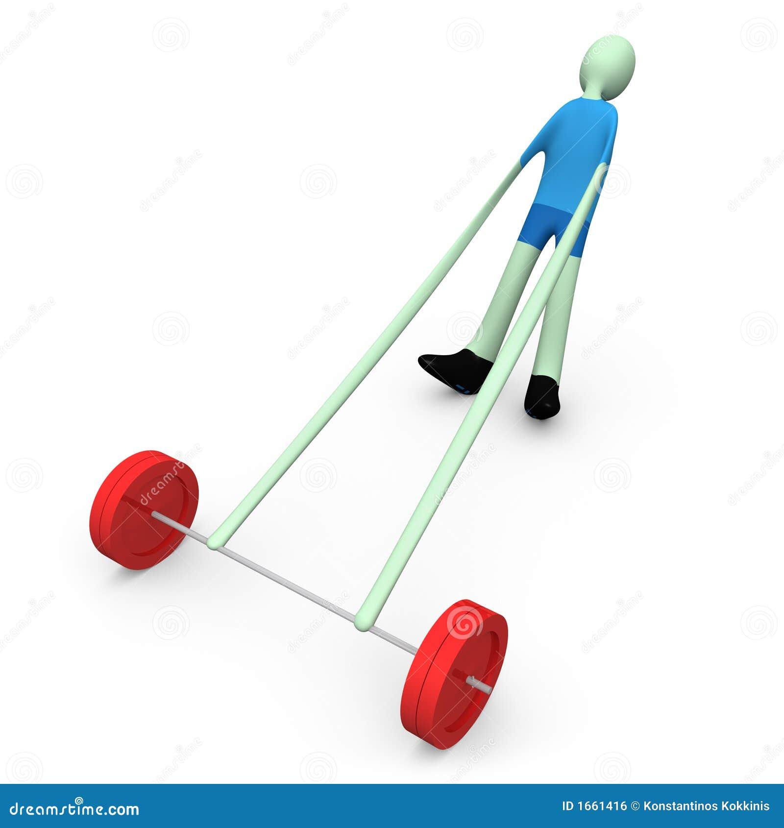 Gewicht-Opheft sporten -