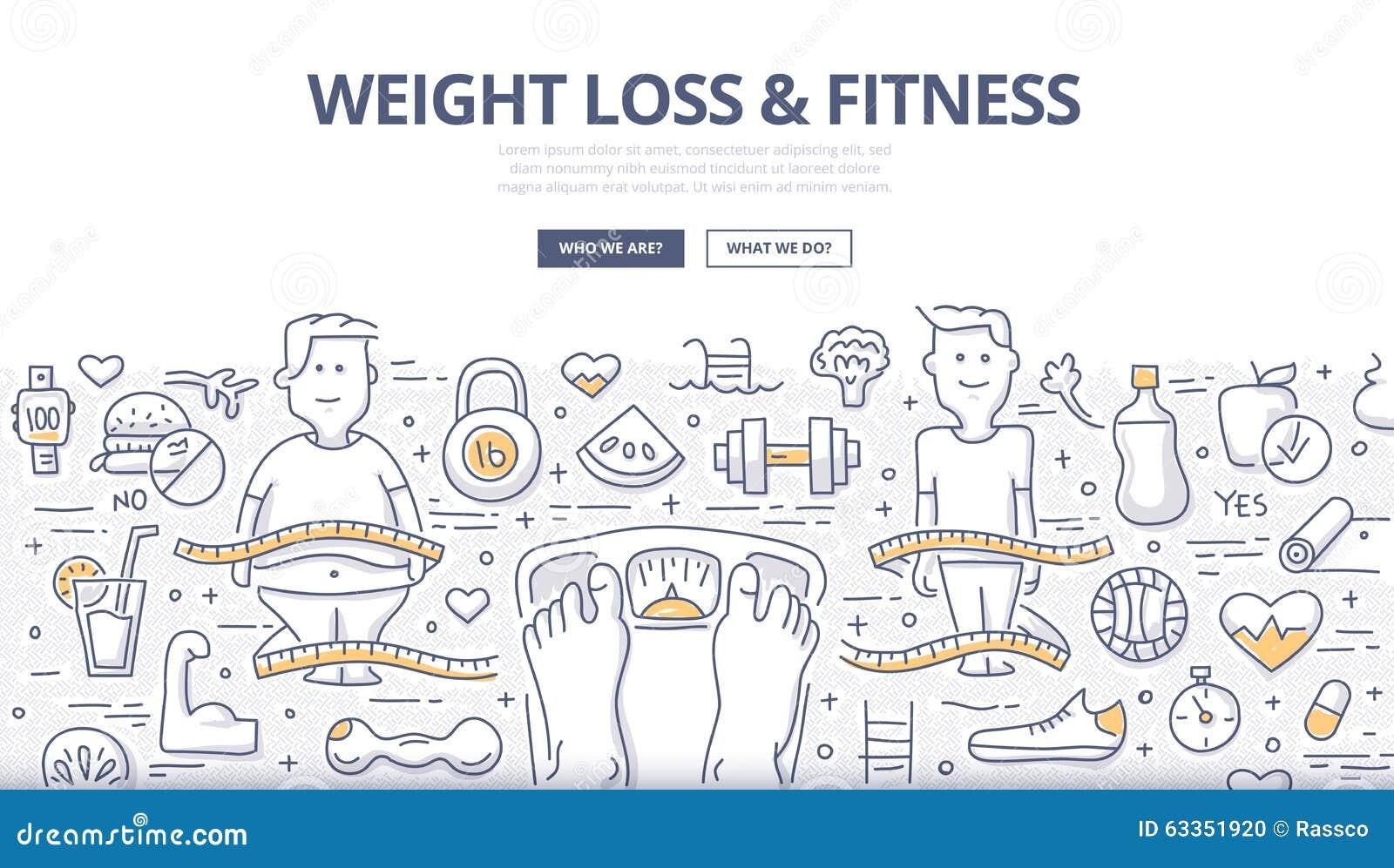Gewichtsverlust u. Eignungs-Gekritzel-Konzept