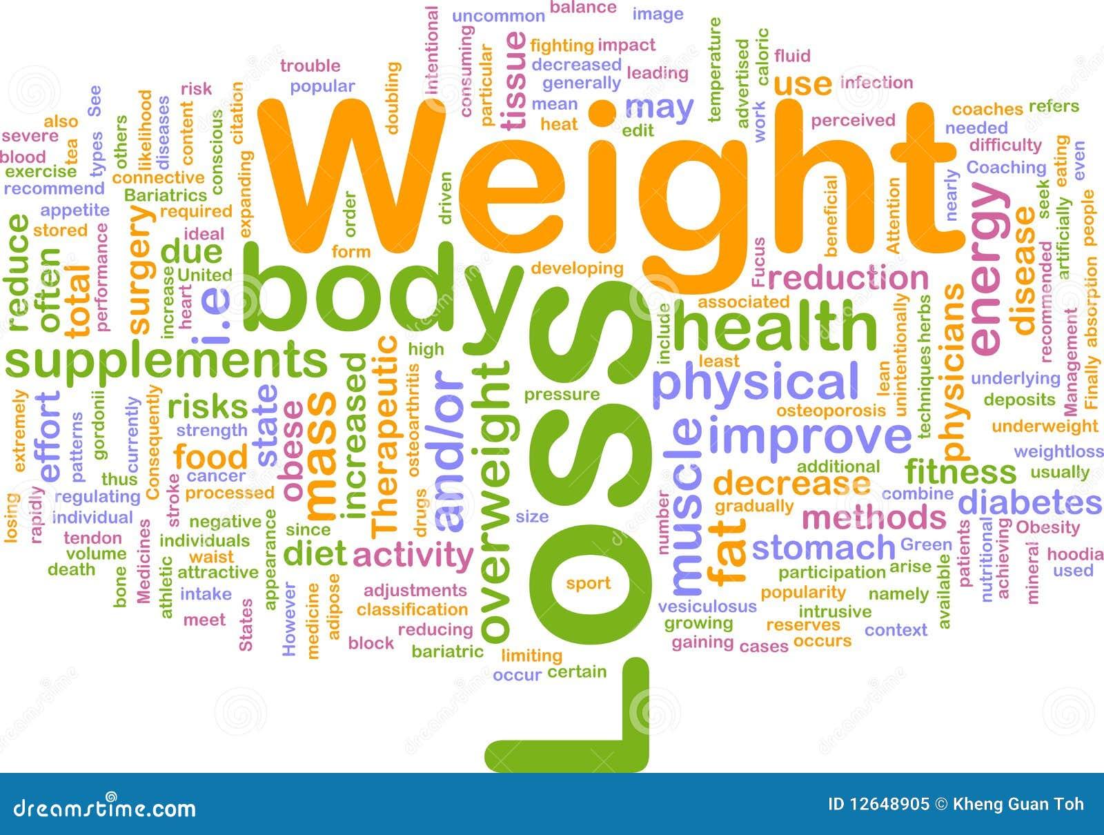 Gewichtverlust-Hintergrundkonzept