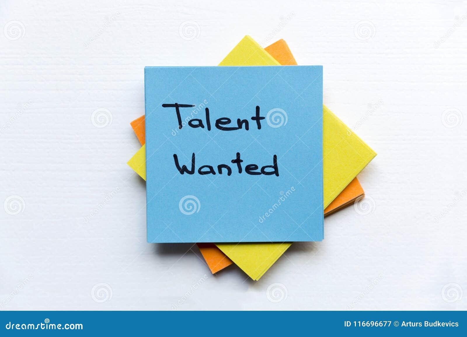 Gewild talent, Bedrijfsconcept Kleverig nota s en woorden GEWILD TALENT