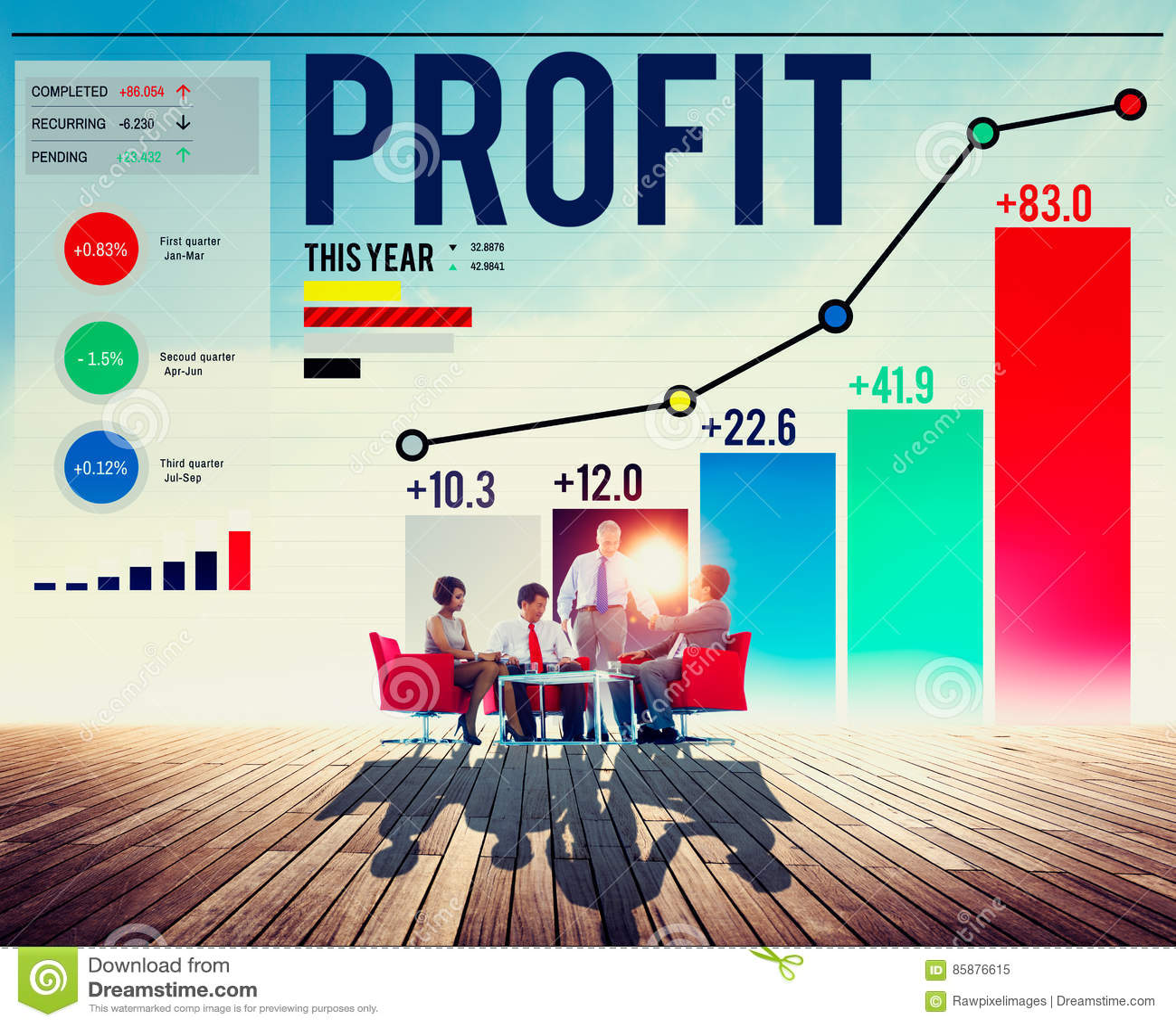 Gewinn-Nutzen-Finanzeinkommens-Wachstums-Konzept