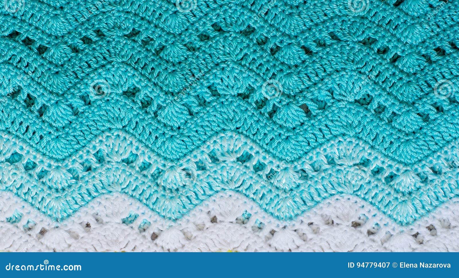 Gewirktes mehrfarbiges Baumwollgewebe in den Türkisfarben streifen