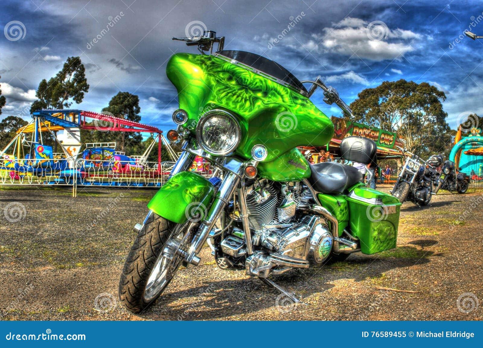 Gewohnheit gemaltes Amerikaner-Harley Davidson-Motorrad