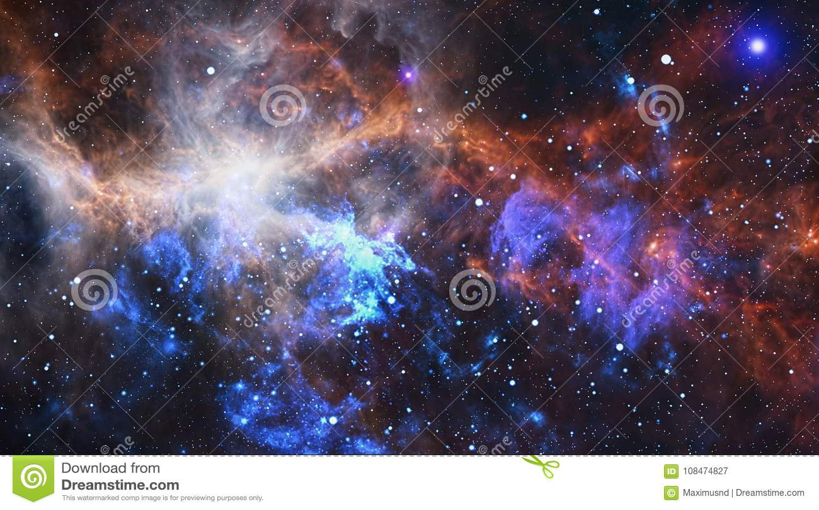 Gewundene Galaxie im Weltraum Elemente dieses Bildes geliefert von der NASA