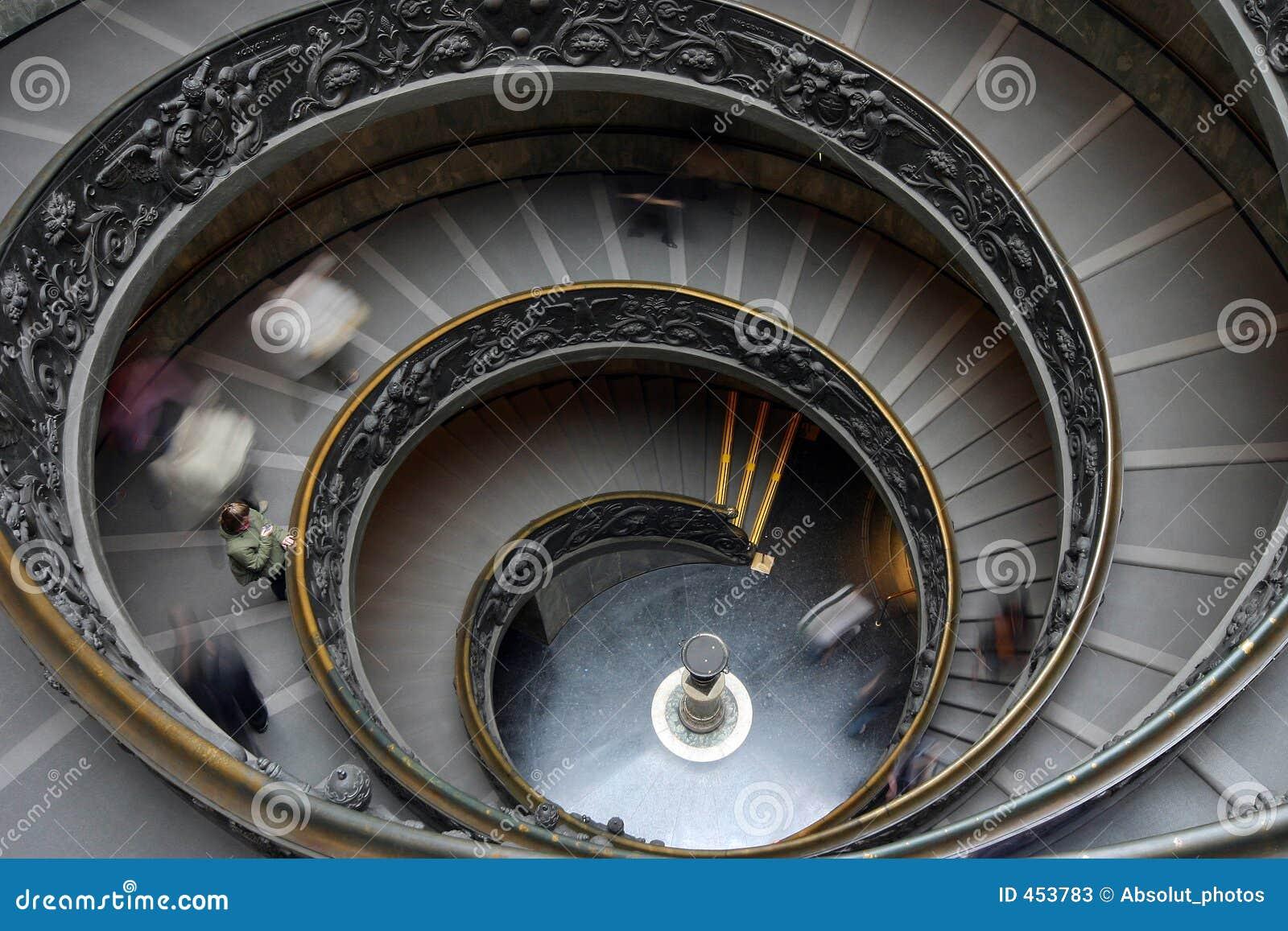 Gewundene Treppen in Vatican