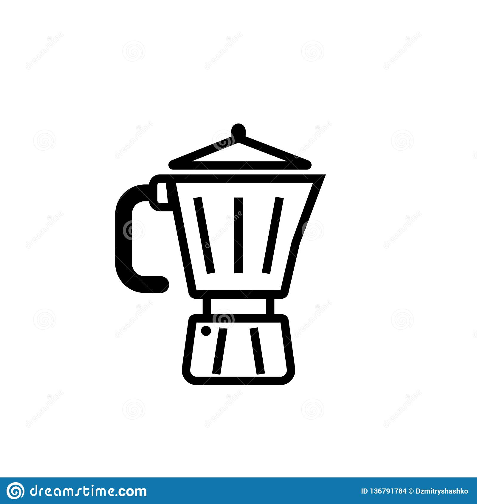 Geyser Coffee Maker Outline Icon Stock Vector Illustration Of