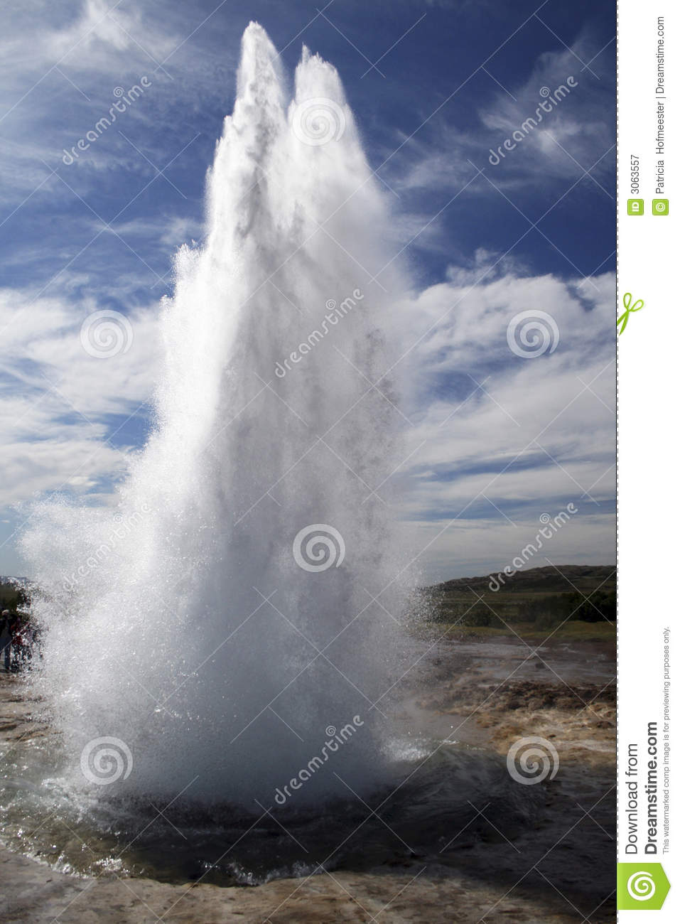 Download Geyser eruption stock image. Image of bright, environment - 3063557