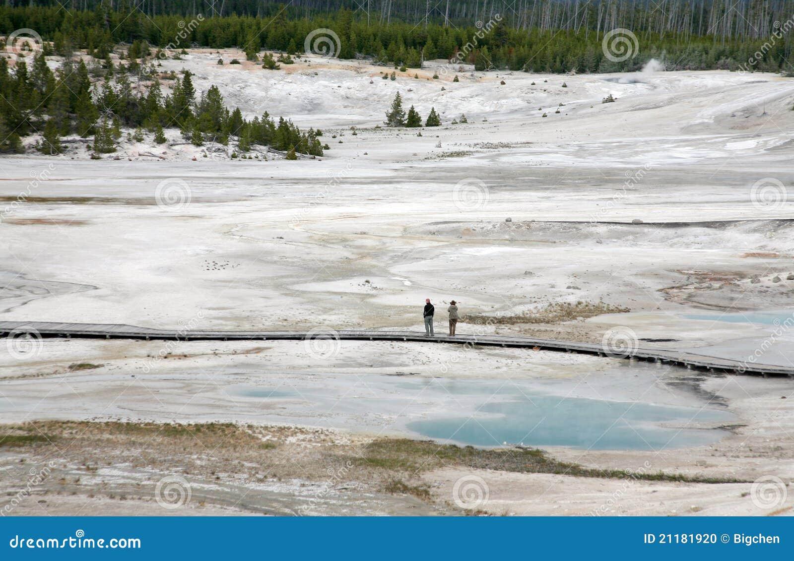 Geyser lake in yellowstone
