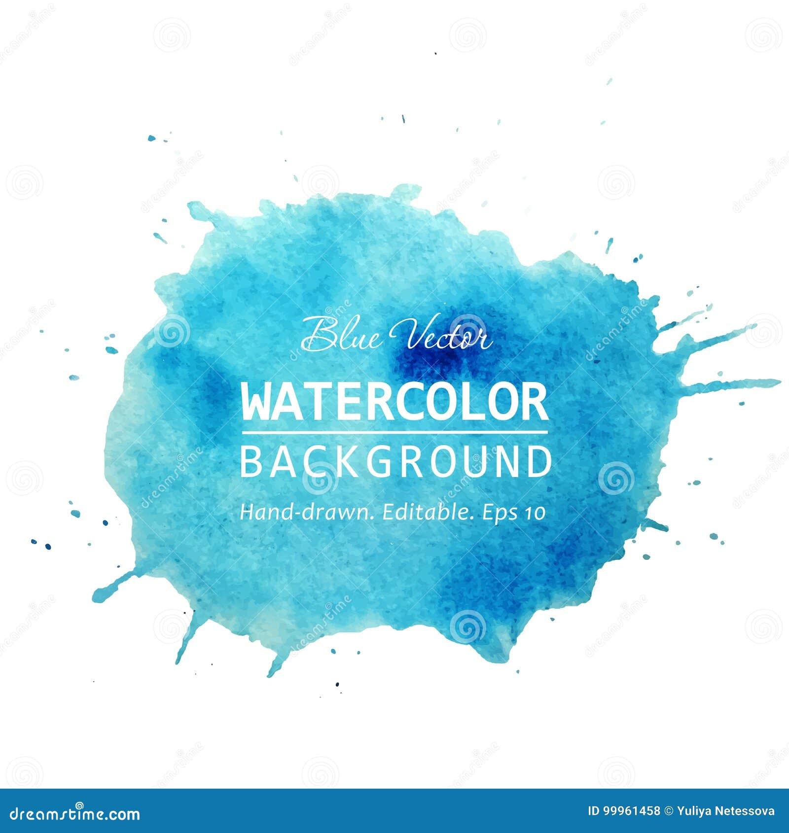Gezeichnete Aquarellstelle des Vektors spritzt Hand mit Aquarellbeschaffenheitshintergrund