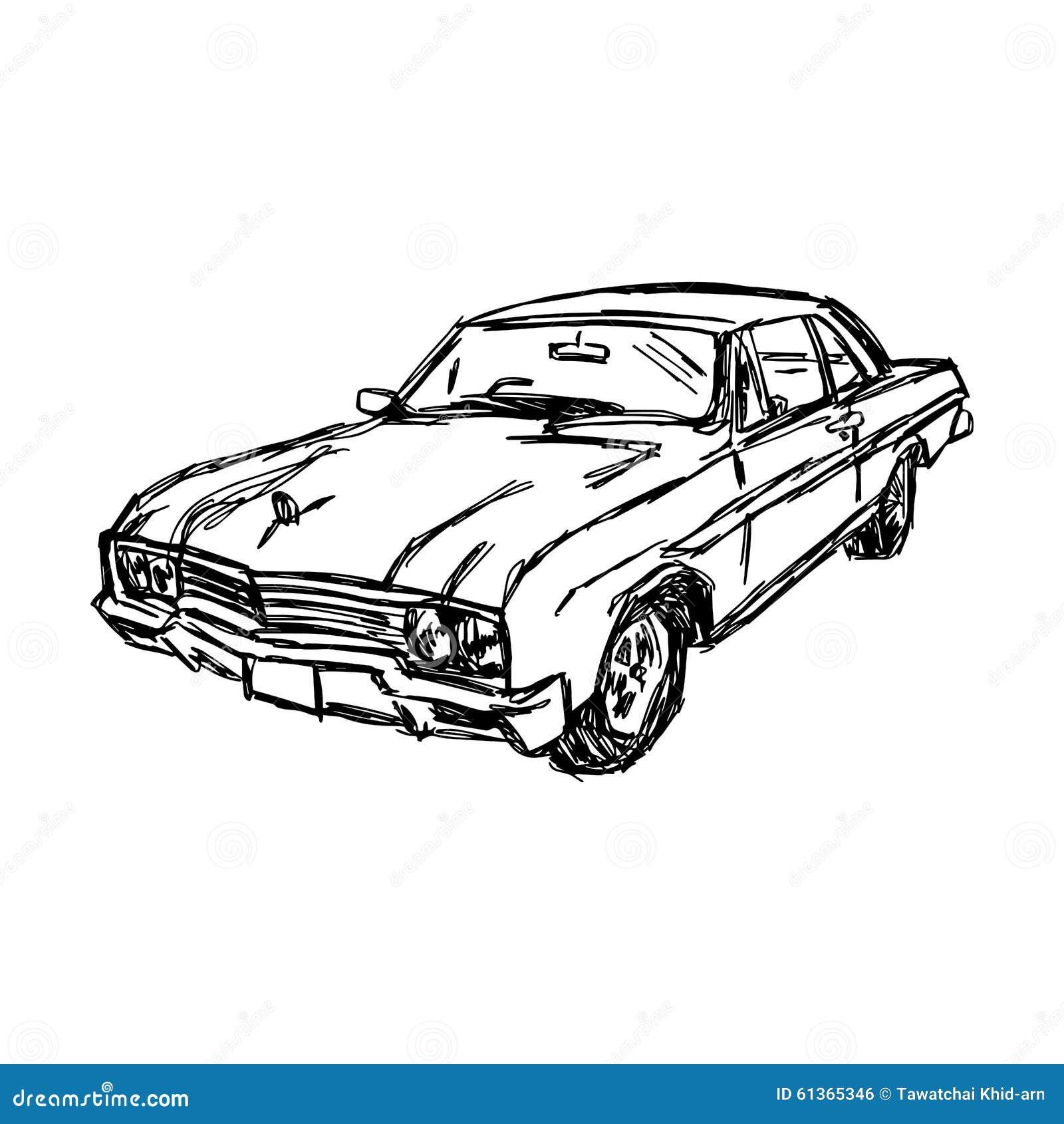 Skizze Des Autos Stock Illustrationen, Vektors, & Klipart – (579 ...
