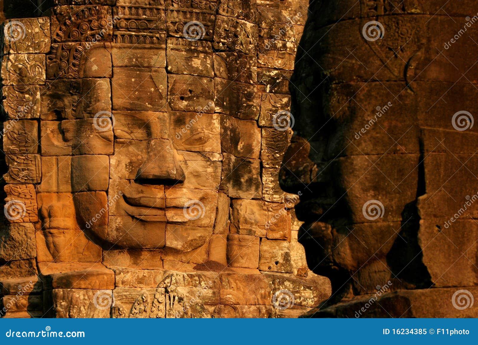 Gezicht in Bayon tempel, Angkor