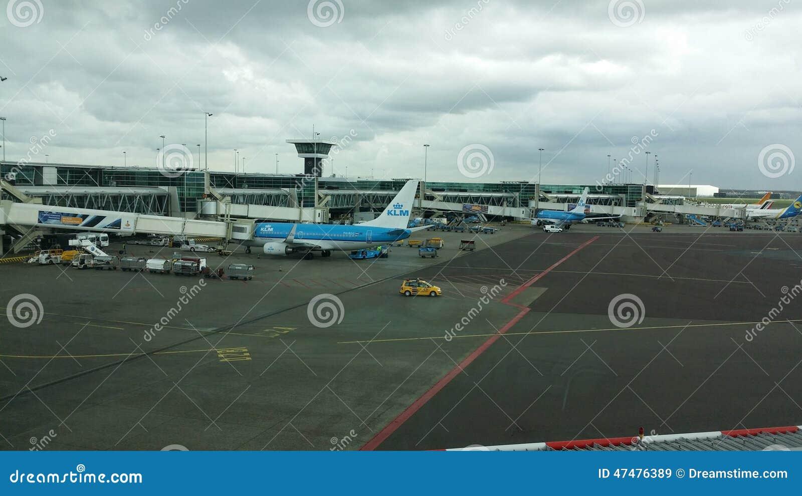 Gezicht bij de luchthaven