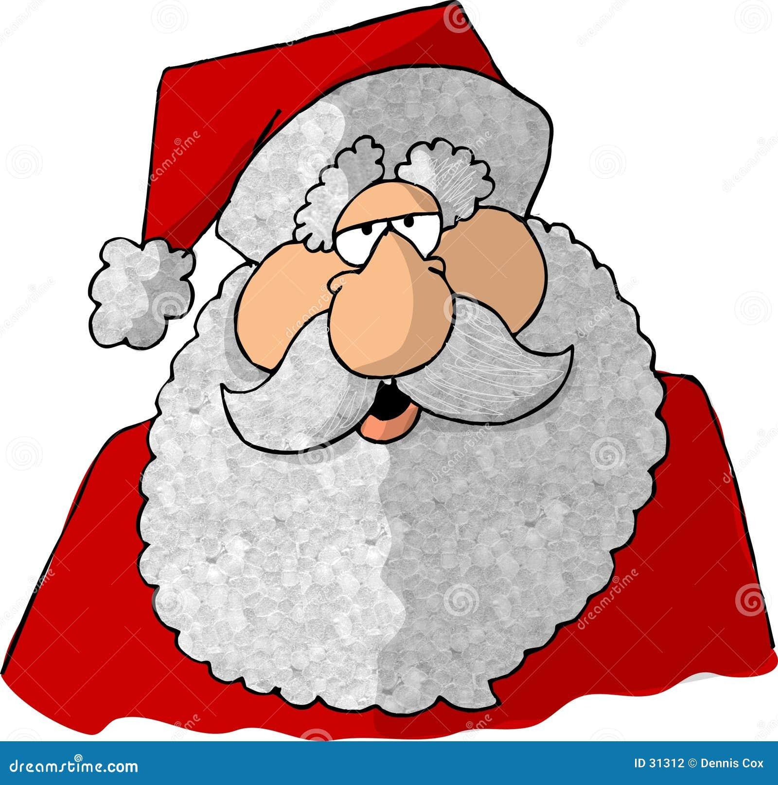 Gezicht van Kerstman 2