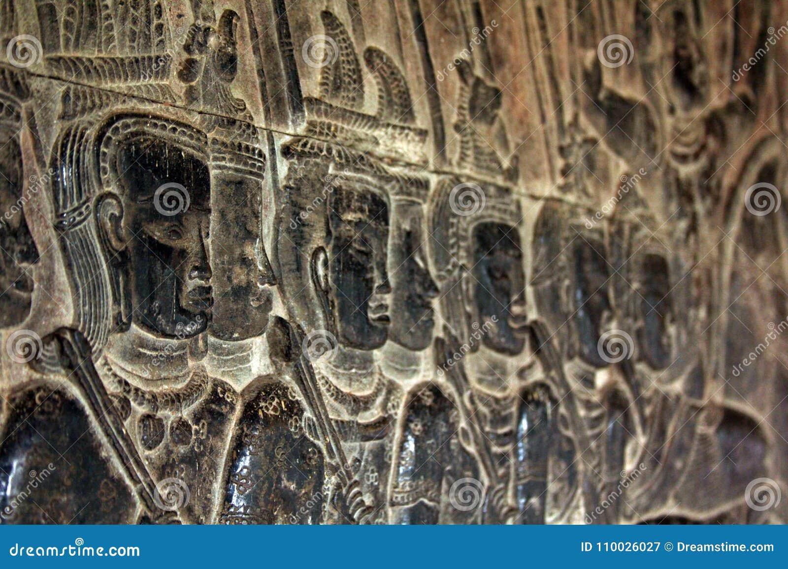 Gezichten van Tempel Bayon Angkor Wat kambodja