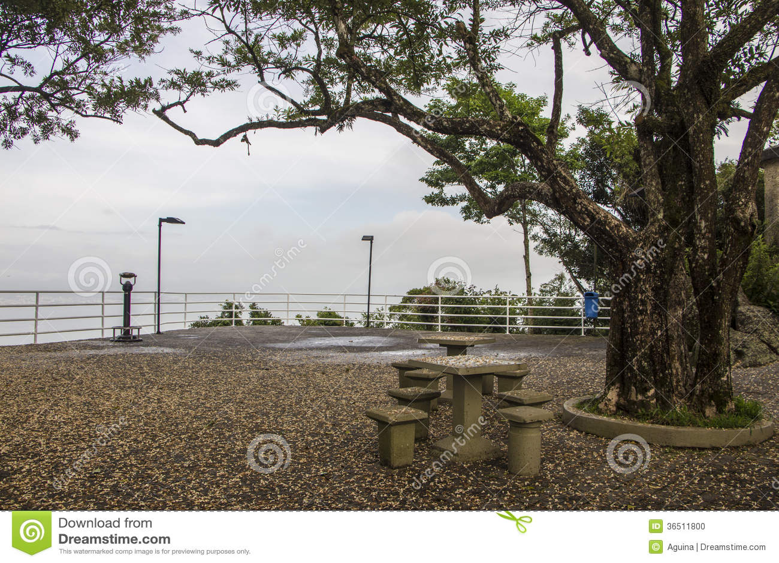 Gezichtspunt van Cruz Mount - Florianópolis/SC - Brazilië