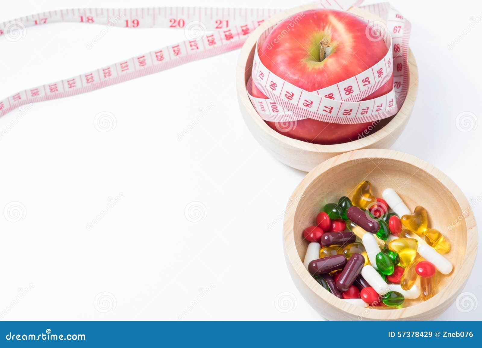 Gezond en schoonheid met fruit, oefening en geneeskunde