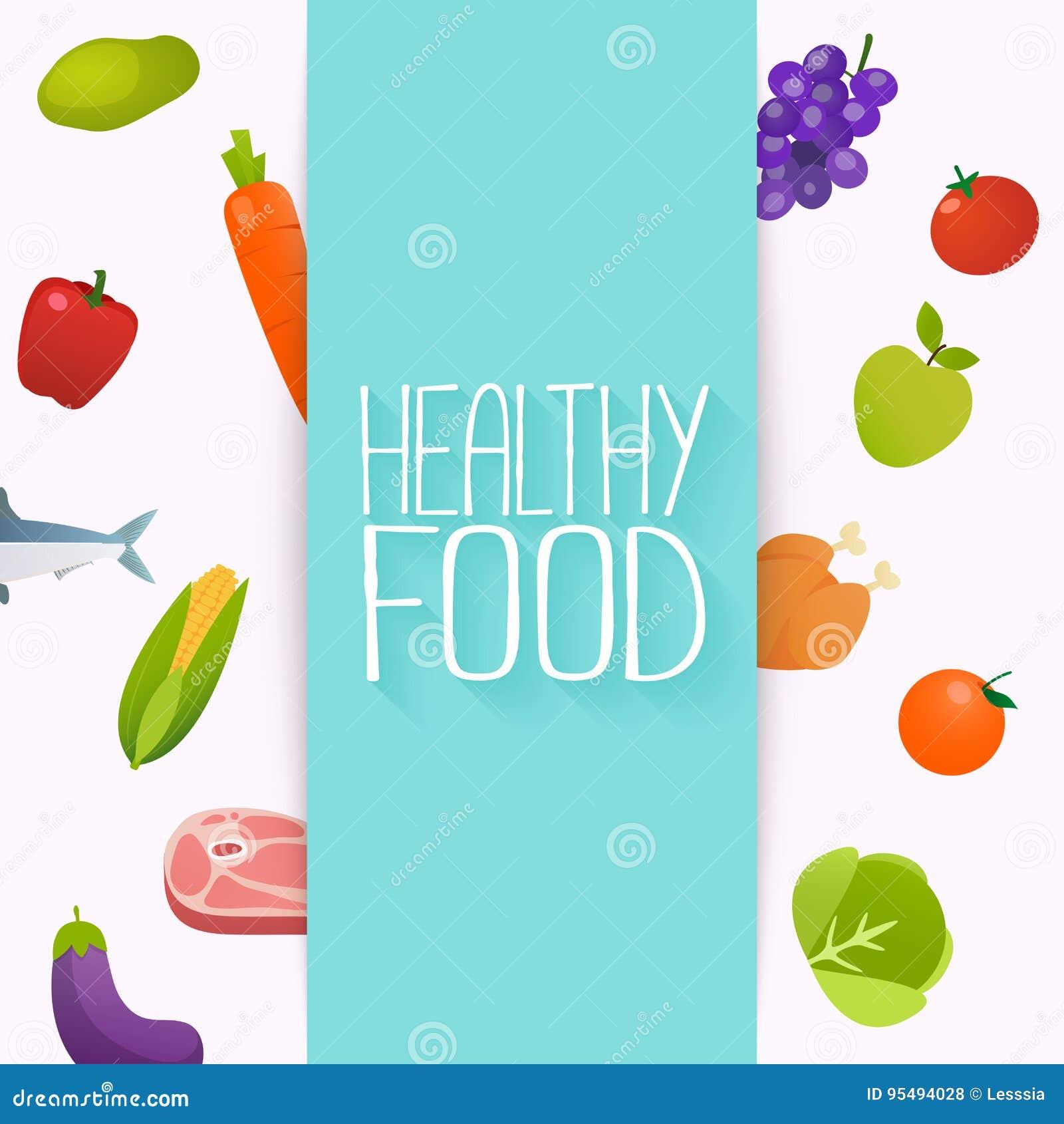 Gezond Voedsel en het Op dieet zijn concept Gezonde organische vers en natu