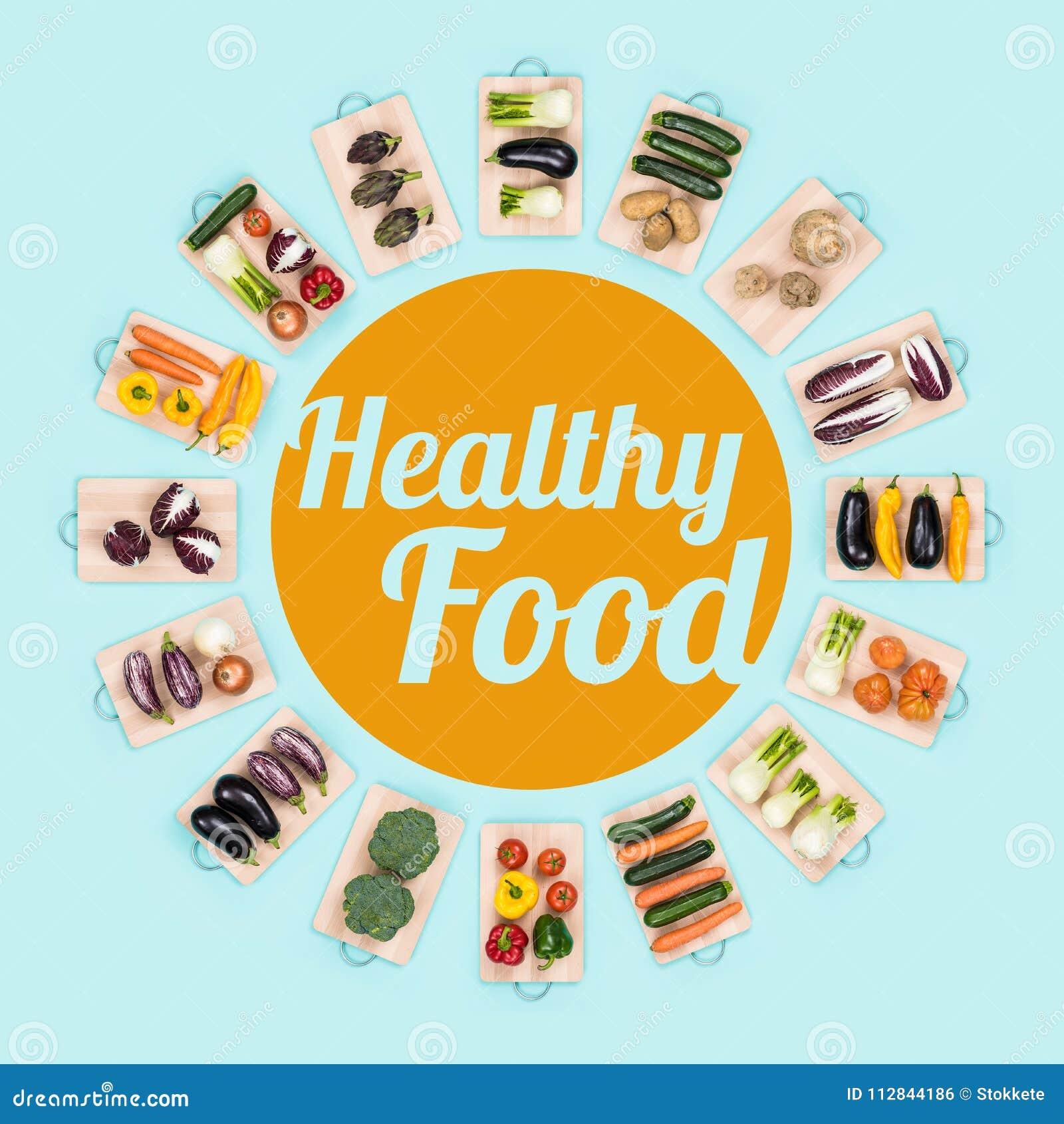 Gezond voedsel en verse groenten