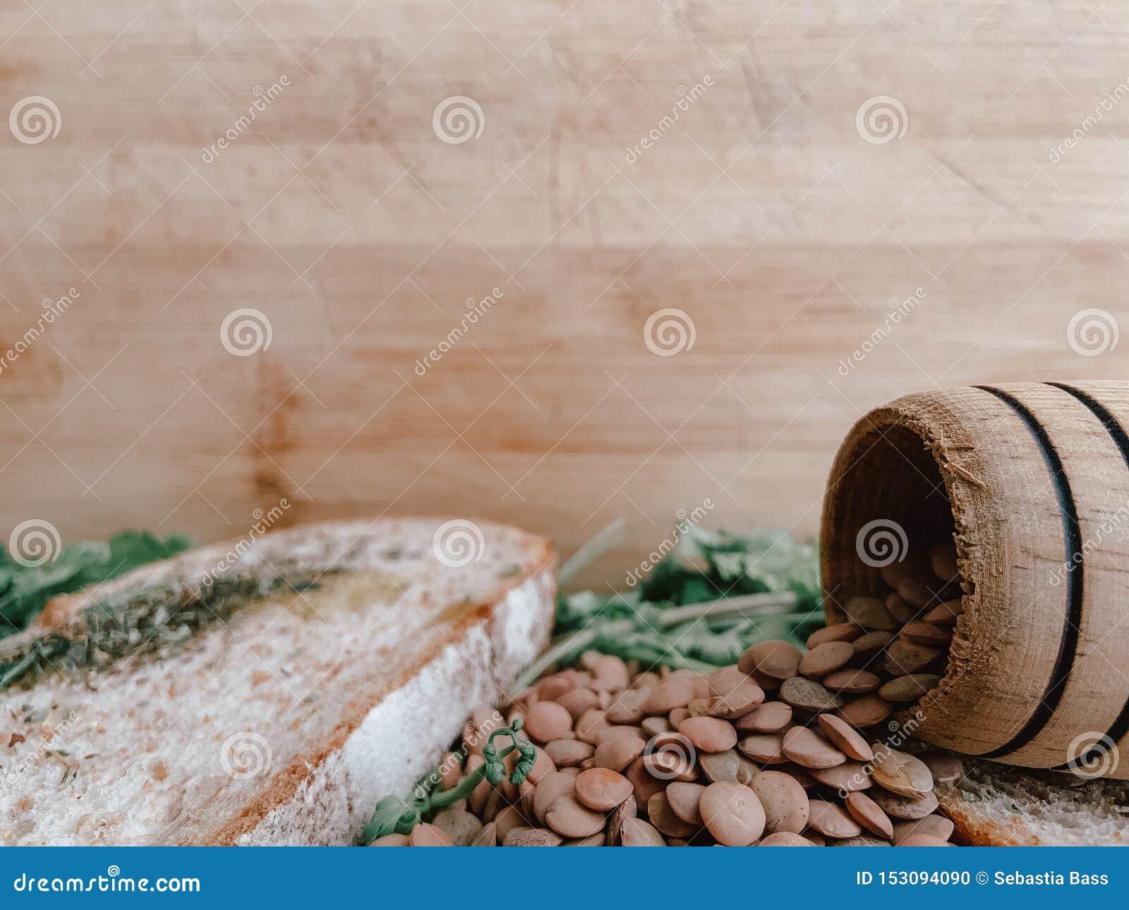 Gezond Voedsel voor Writte binnen Restaurantbanner Veganistvoedsel