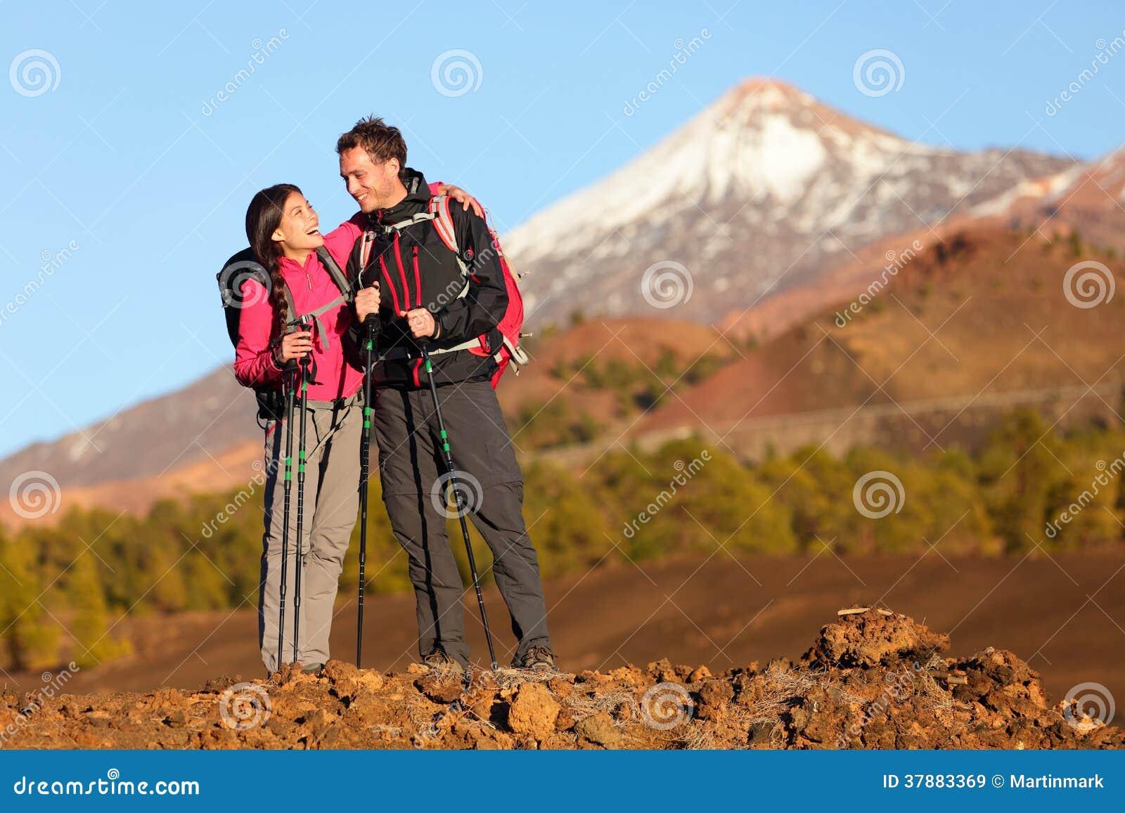 Gezonde actieve levensstijl - Wandelaarmensen wandeling