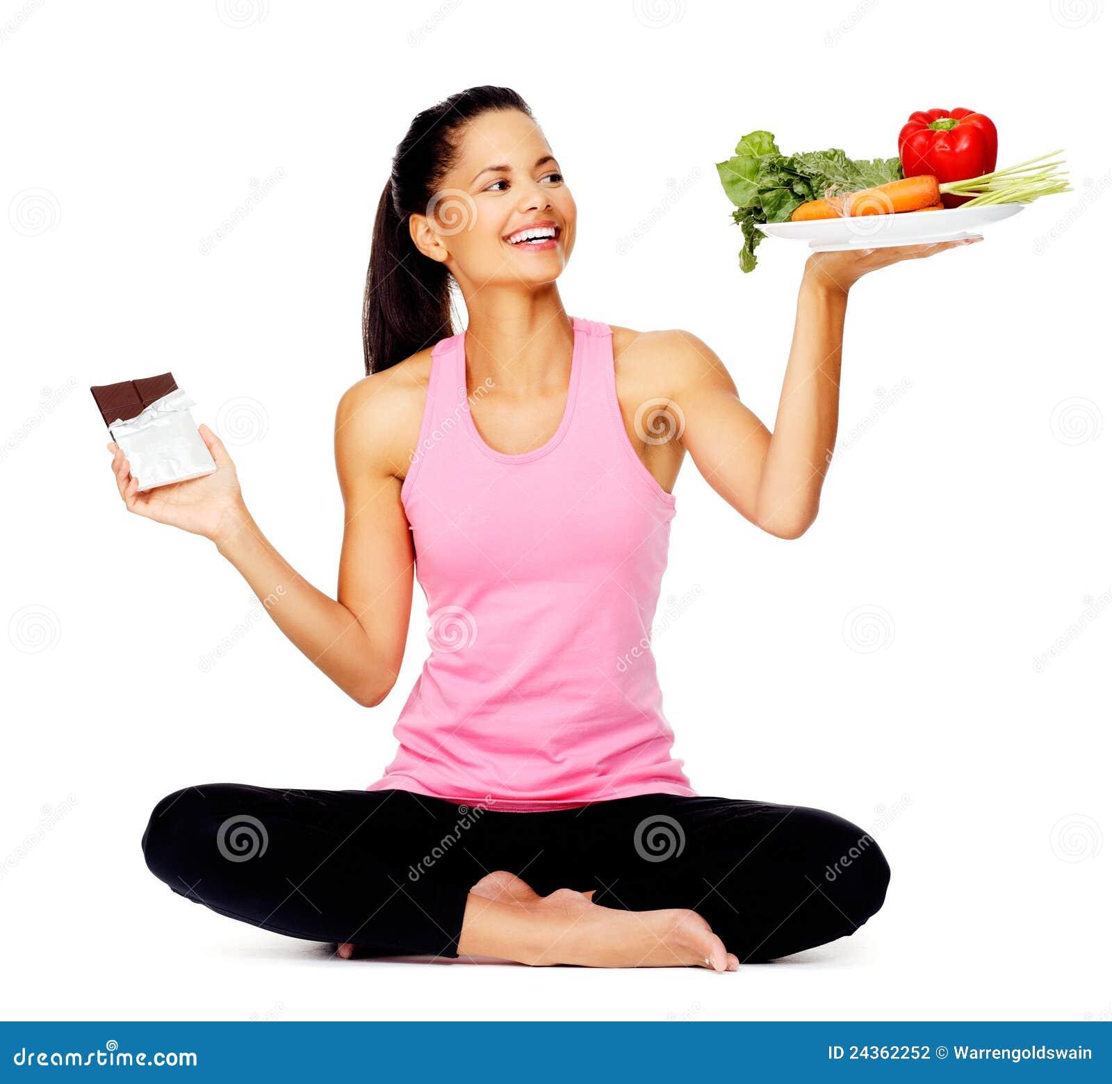 Gezonde etende vrouw