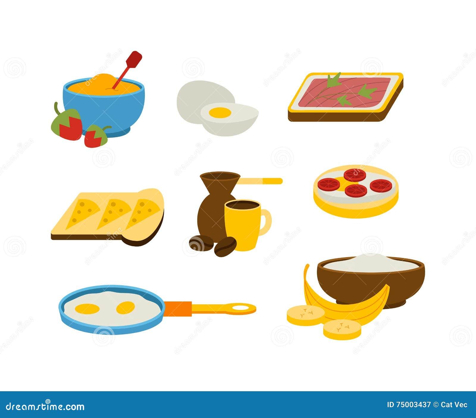Gezonde ontbijtvector