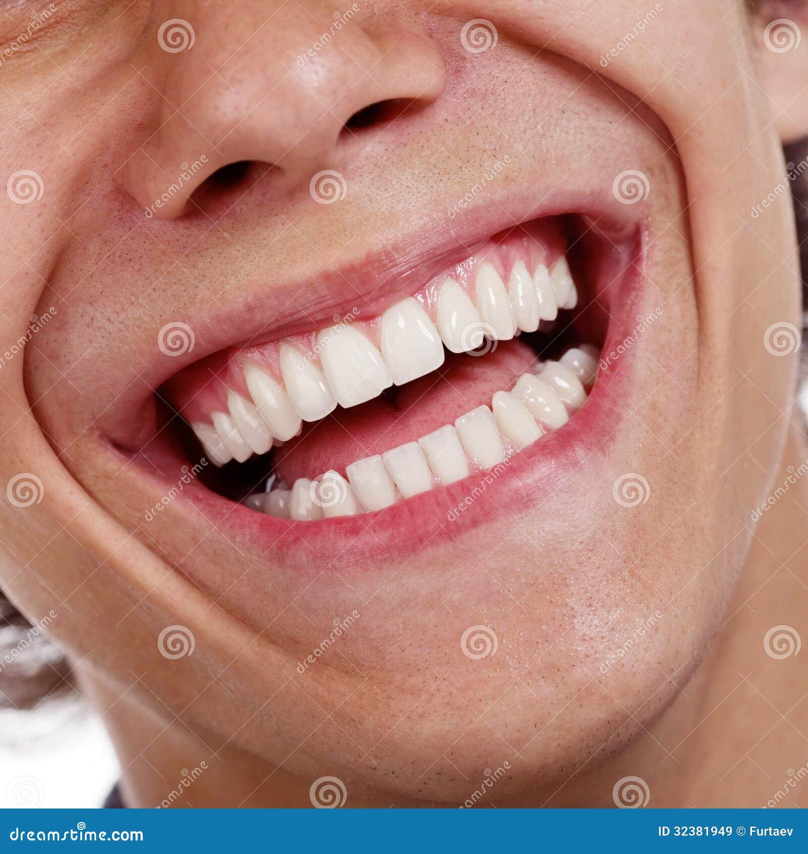 Gezonde tandenclose-up