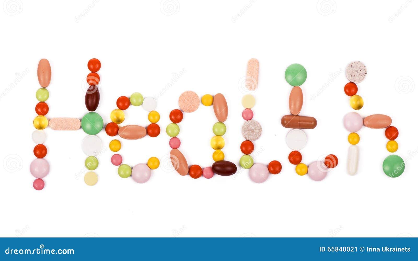 Gezondheidsinschrijving van pillen wordt gemaakt die