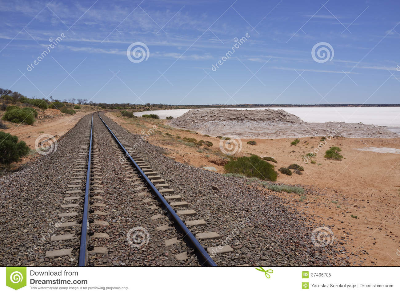 The Ghan and salt Lake Hart