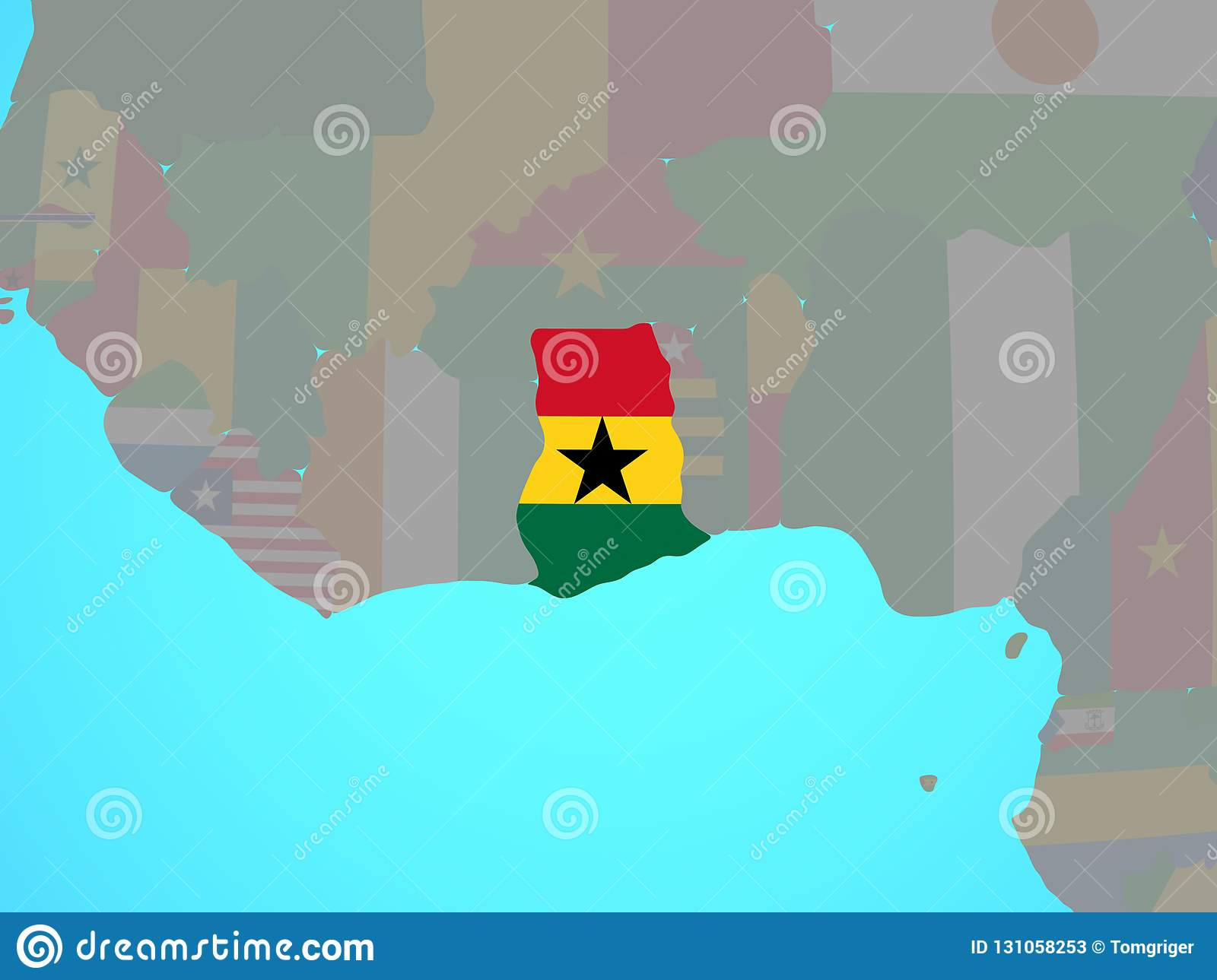 Ghana with flag on map stock illustration. Illustration of ... on mauritania on map, nepal on map, guatemala on map, west africa map, borneo on map, egypt on map, belize on map, mali on map, madagascar on map, liberia on map, hungary on map, brazil on map, cuba on map, benin on map, zimbabwe on map, italy on map, indonesia on map, the gambia on map, nigeria on map, thailand on map,