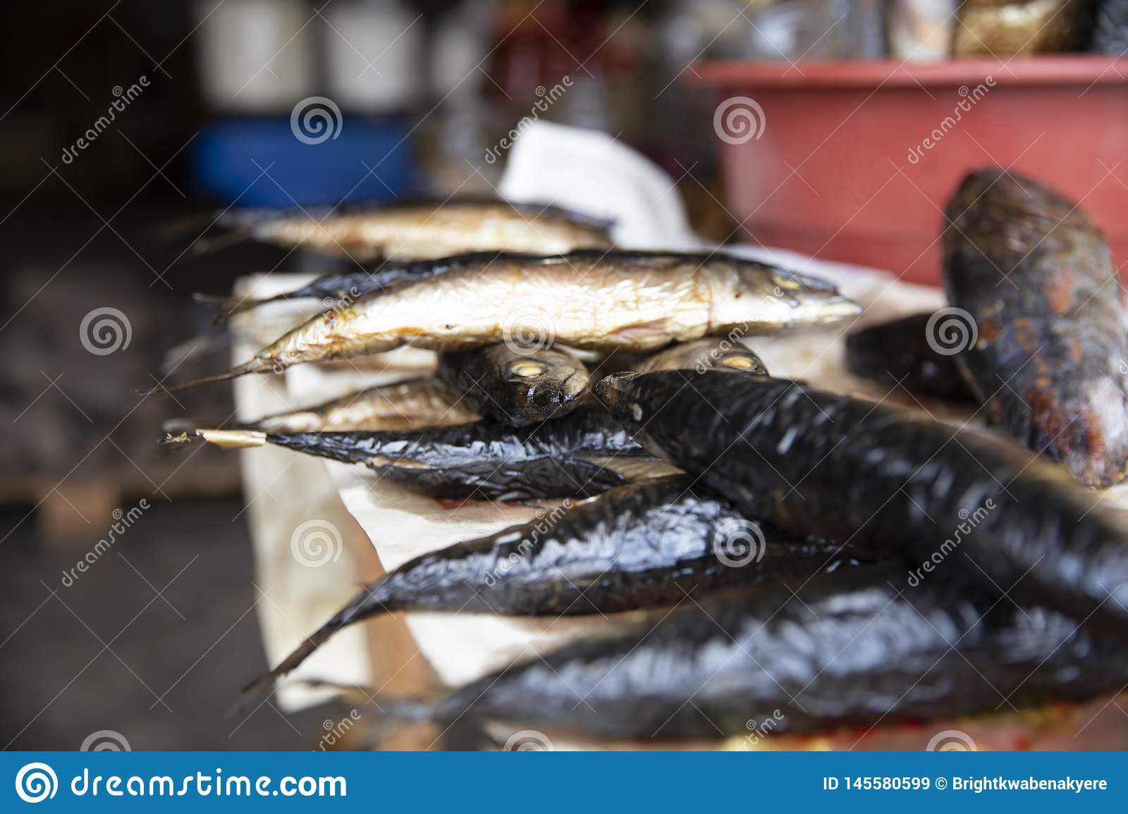 Smoked Fish from Ghana Market