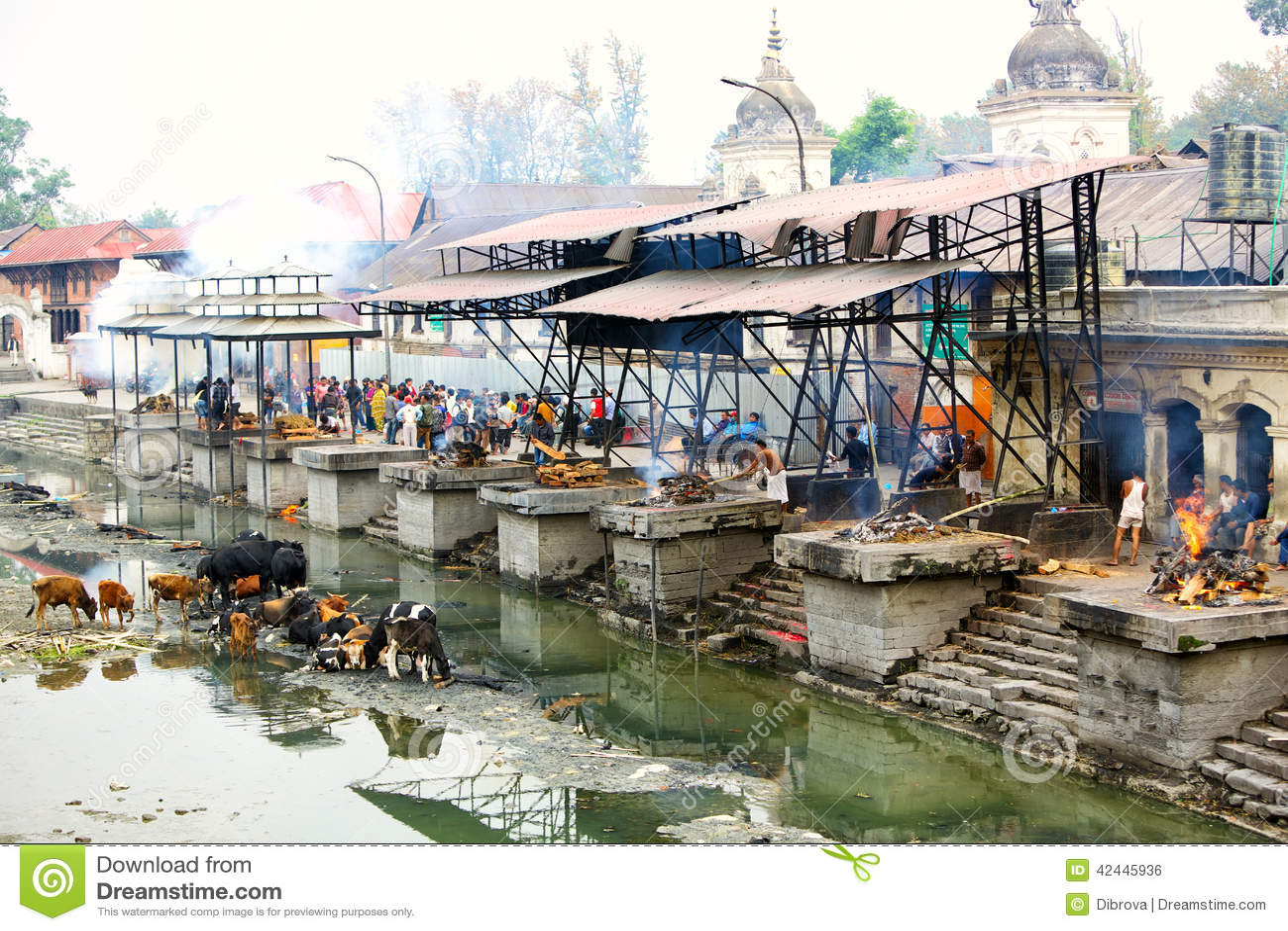Ghats y ceremonia de la cremación en Nepal