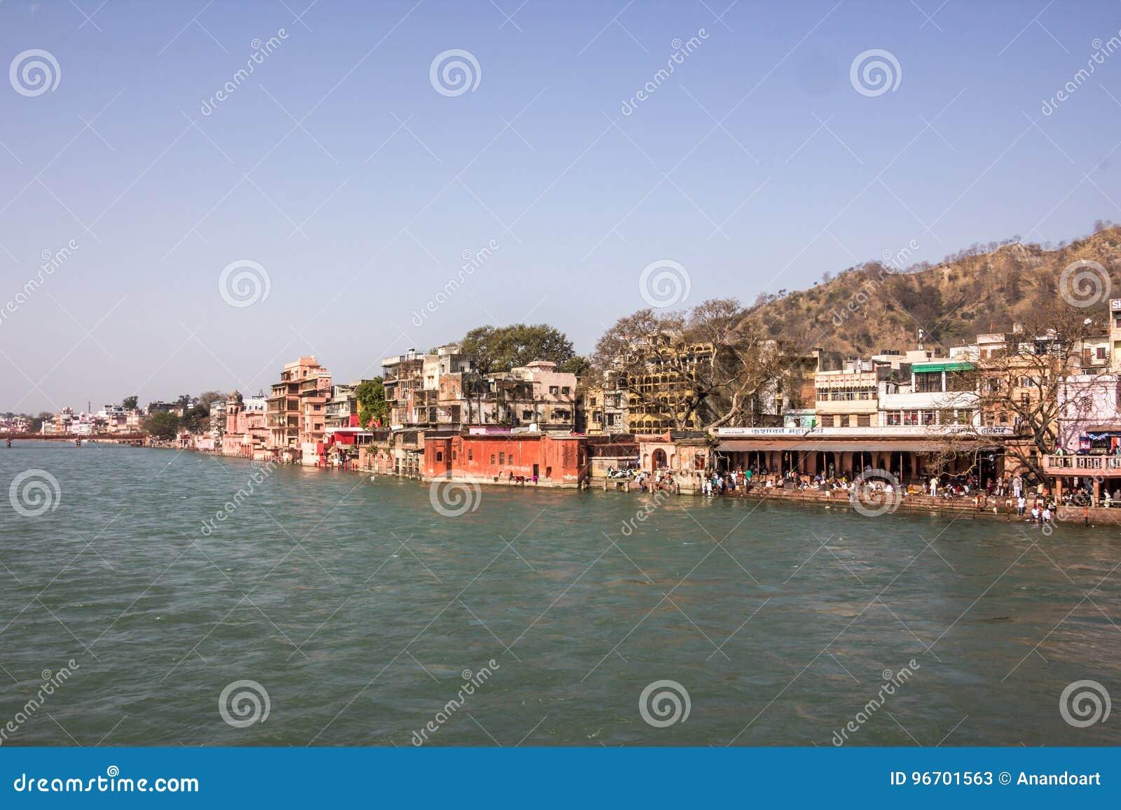 Ghatstempels en hotels in Haridwar