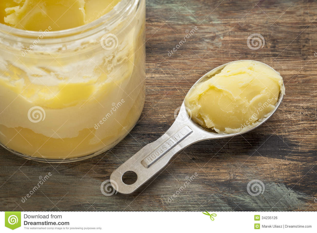 Ghee in jar and spoon royalty free stock image image for 8 tablespoons of butter