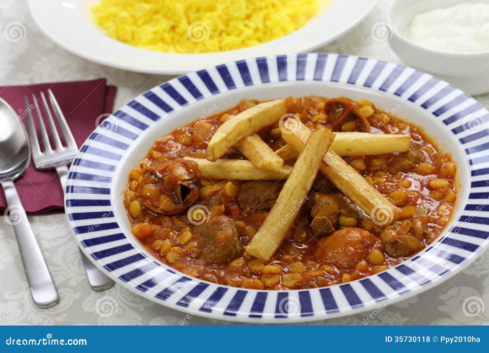Gheimeh De Khoresh Cuisine Iranienne Photo Stock Image - Cuisine iranienne