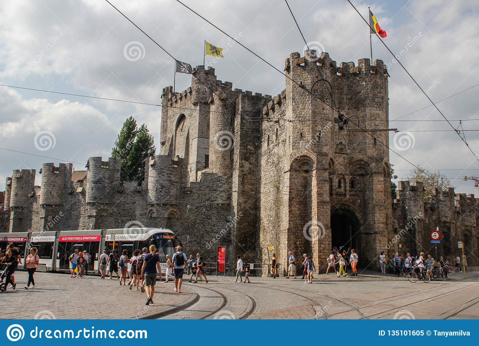 Medieval castle fortress in the city center