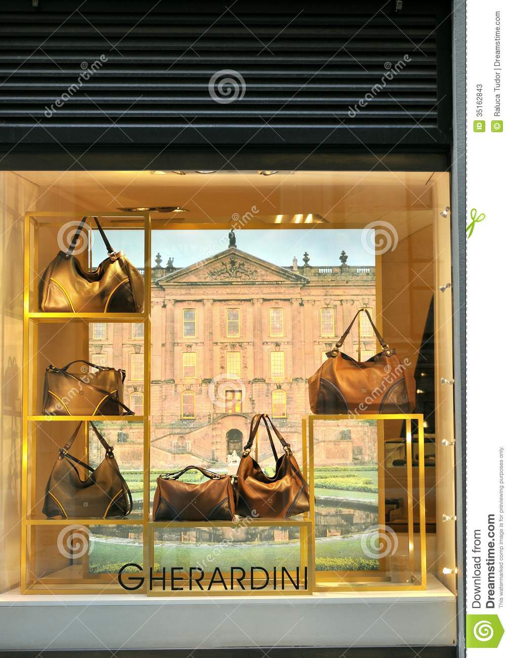 Gherardini bag fashion shop in italy editorial stock photo for Dream store firenze