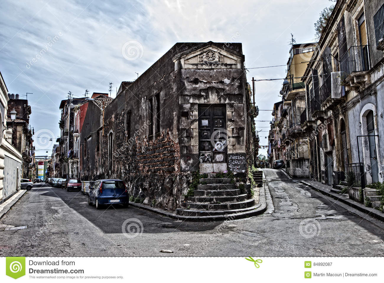 ghetto in catania stock image image of europe place 84892087